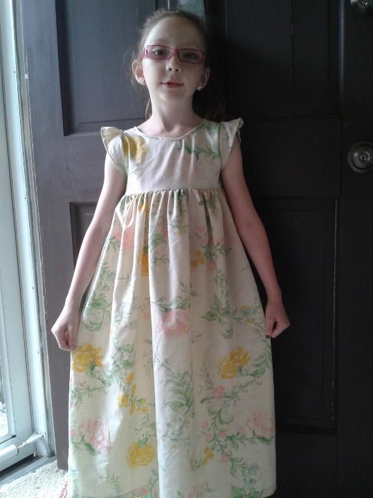 C1 in  Nightgown from a Vintage Sheet