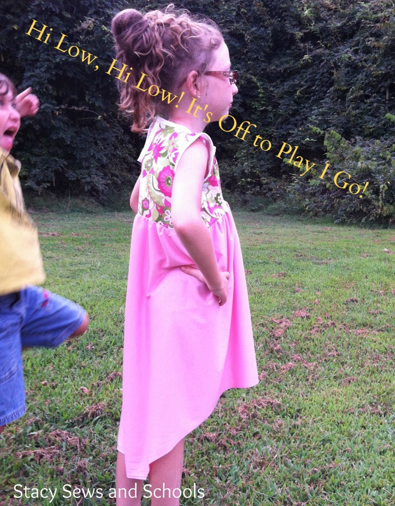 High Low, High Low! It's Off to Play I Go! Dress Tutorial (1/6)