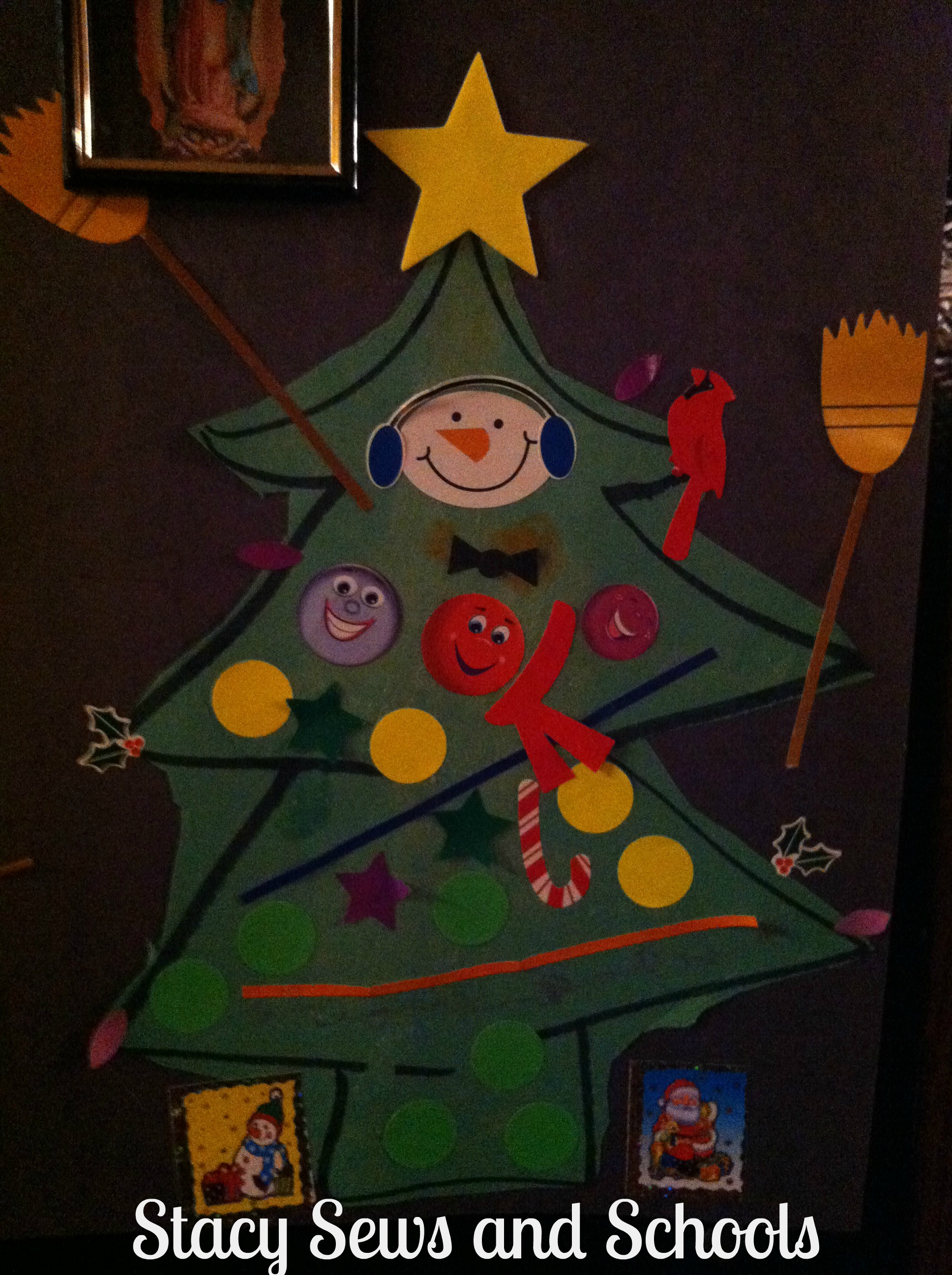 Colin's Christmas tree art