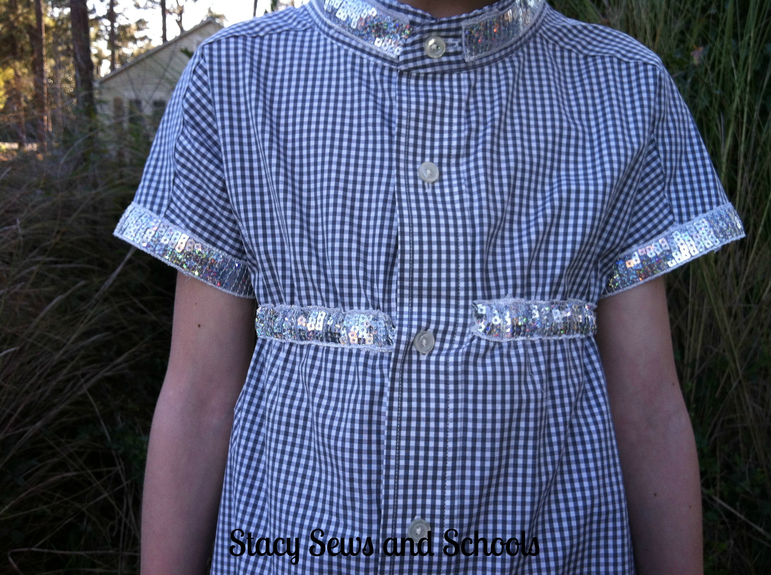 mens shirt refashion Stacy Sews and Schools