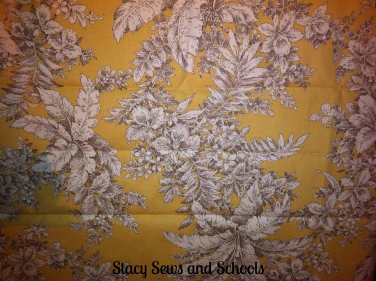New Fabric - Yellow Floral