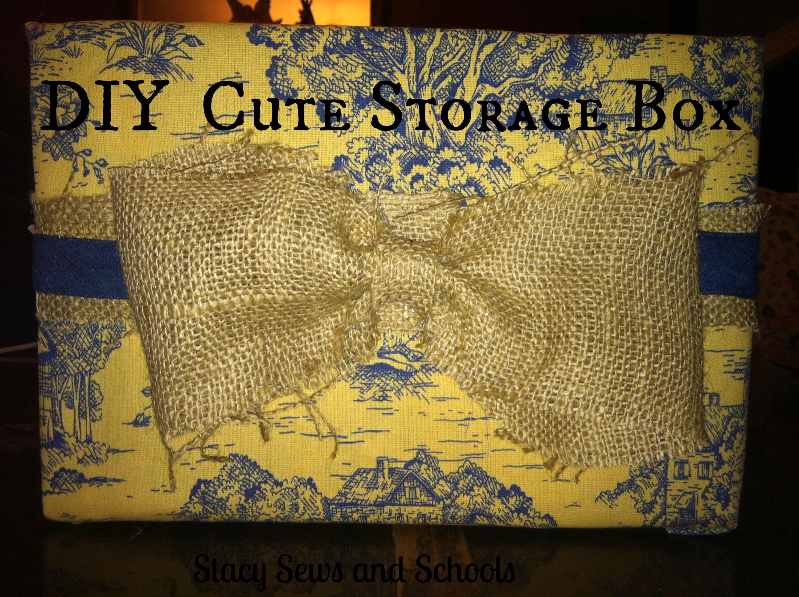 DIY Cute Storage Box 01