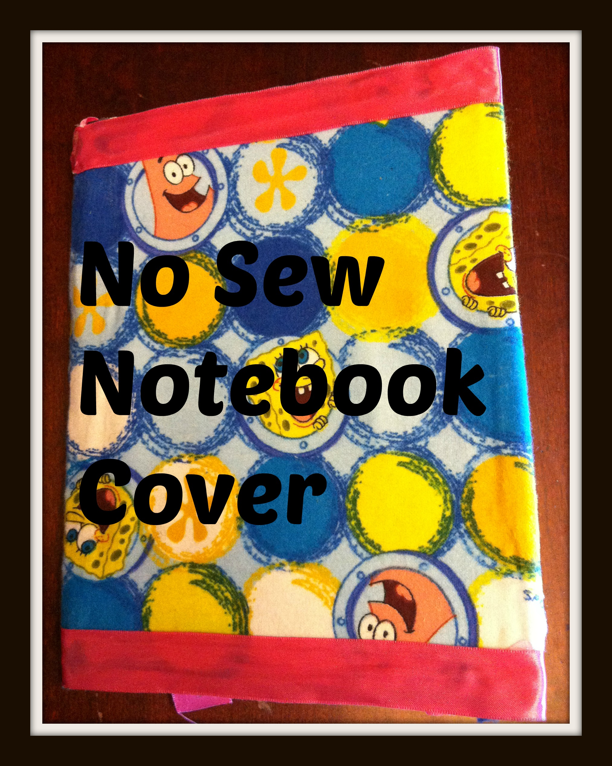 no sew notebook cover