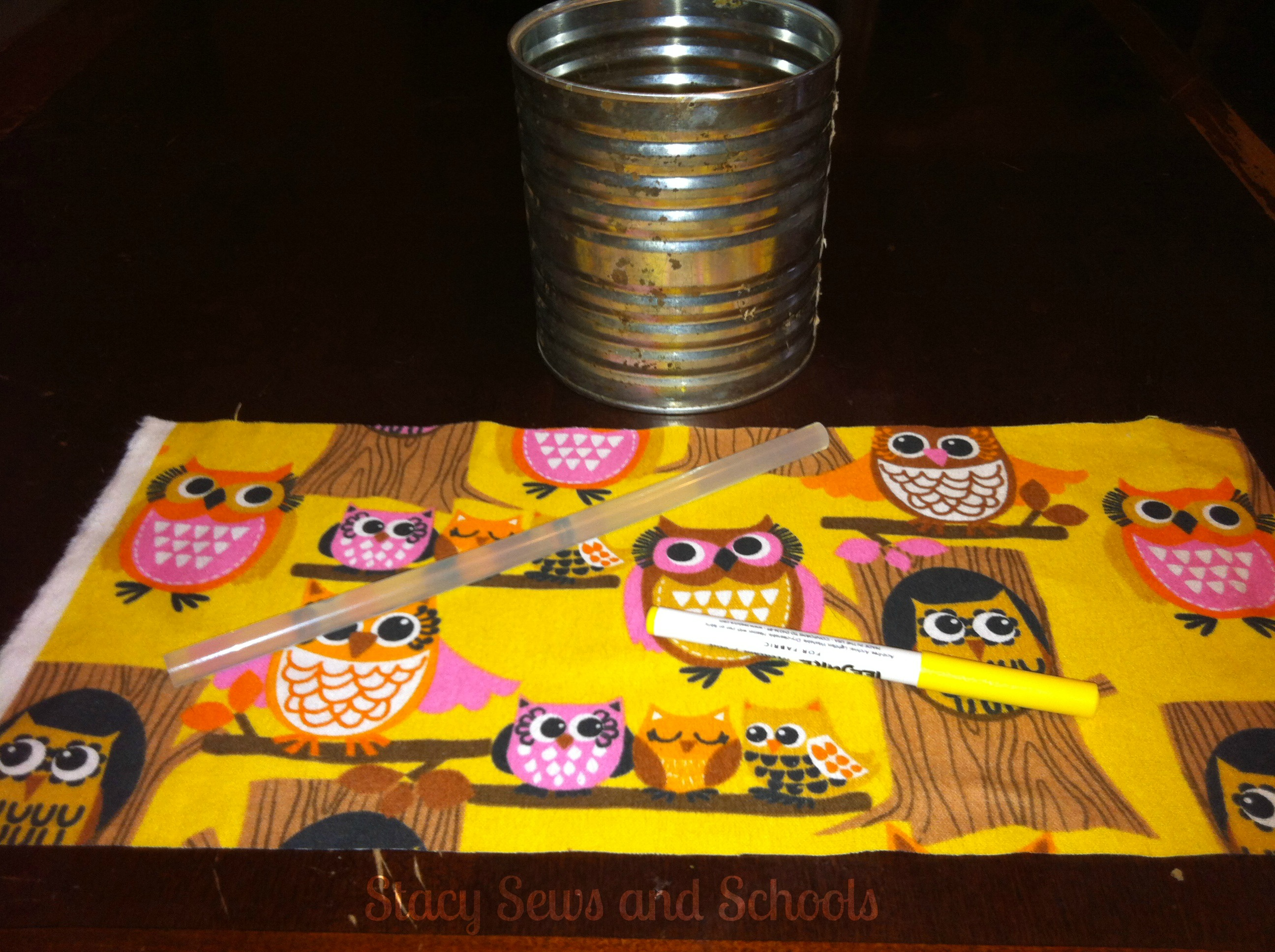 owl pencil can 001