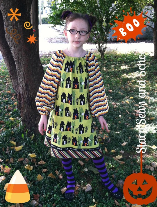 Happy Halloween Peasant Dress