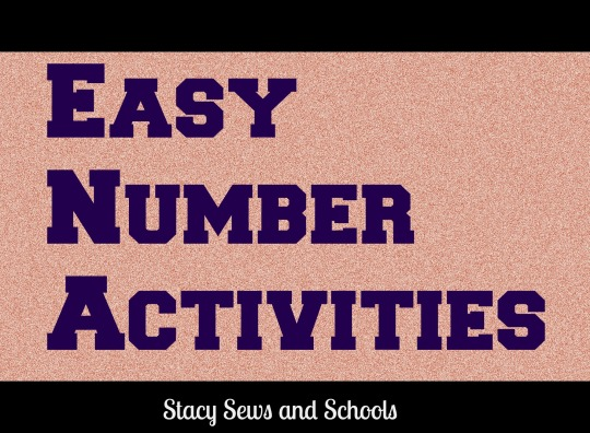 Easy Number Activities