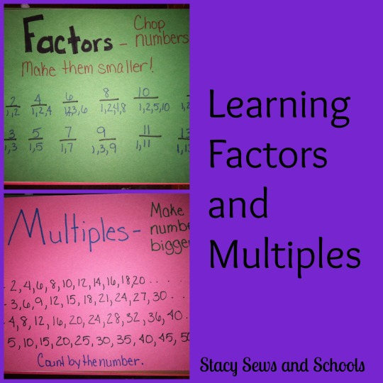 Factors and Multiples Collage