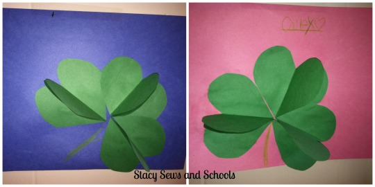 3D Shamrocks Collage