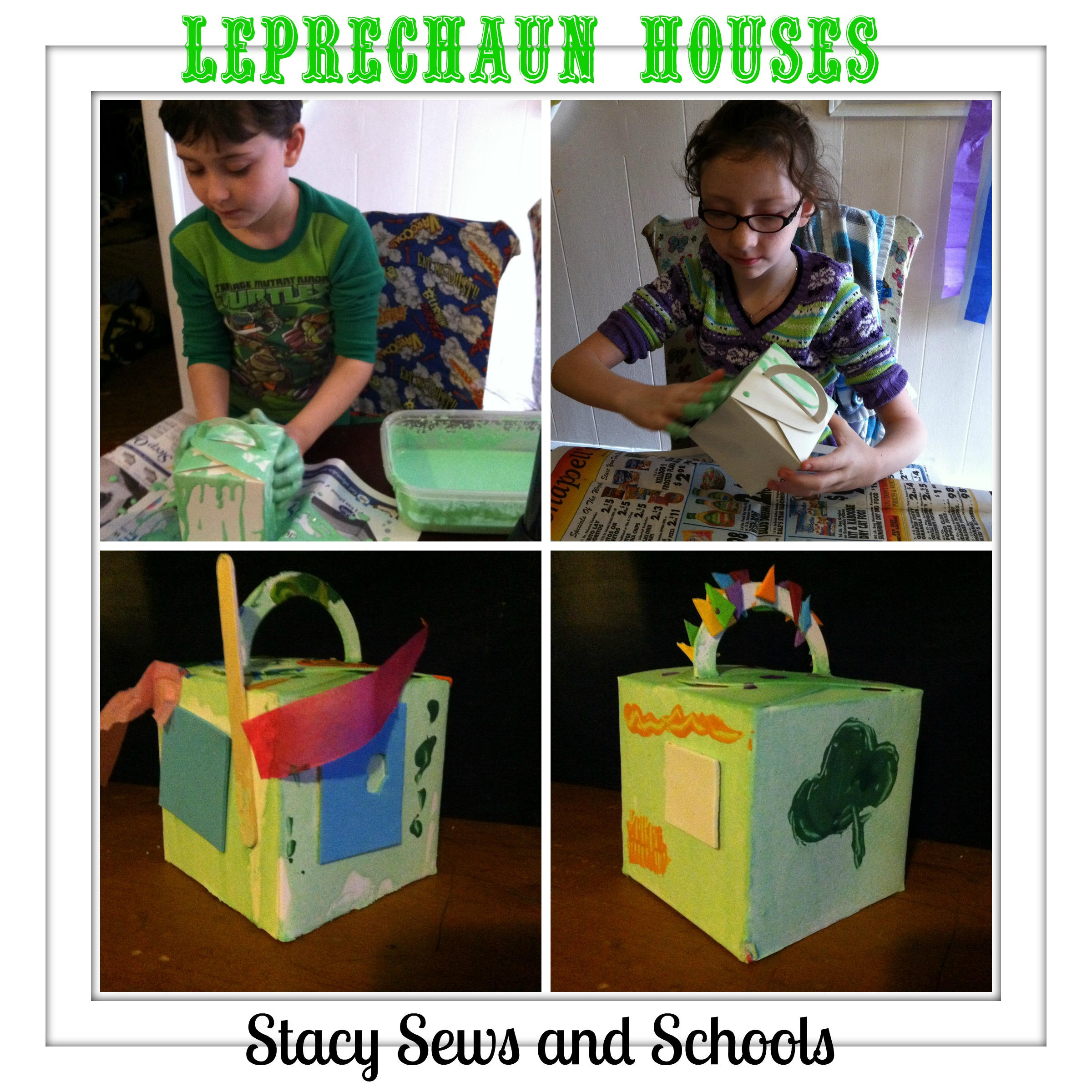 Leprechaun Houses Collage